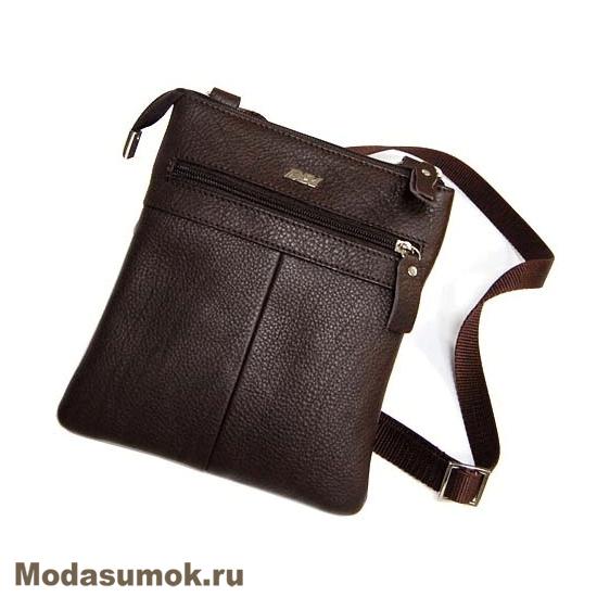 ac4001369bf4 Мужская сумка через плечо из натуральной кожи BB1 940082 коричневая ...