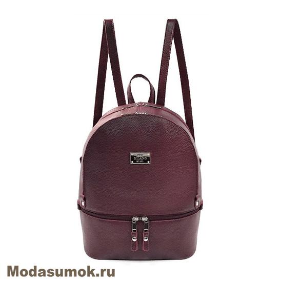 72db36a24de9 Женский рюкзак из натуральной кожи BB1 - 940121 бордовый купить в ...